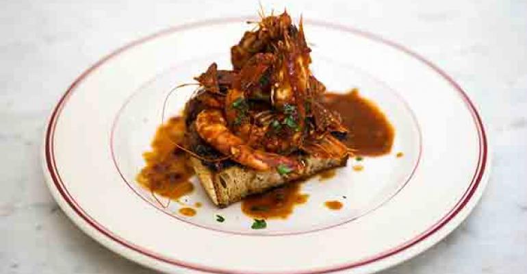 Shrimp Creolestyle at Presidio Social Club in San Francisco