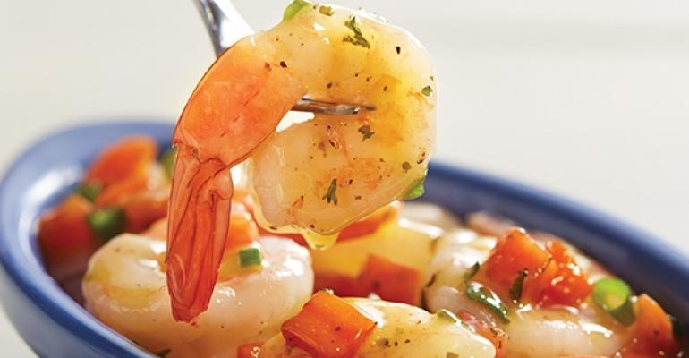 Red Lobster Serving Ger Shrimp