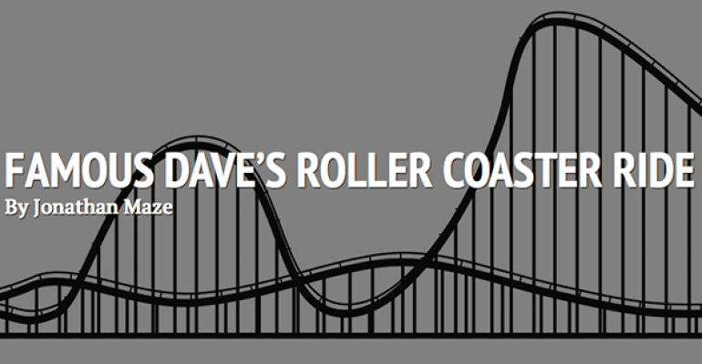 Famous Dave's roller coaster ride