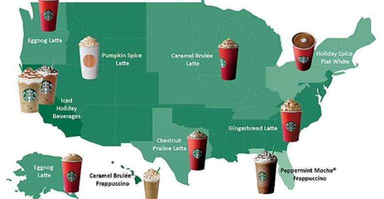 Most Popular Starbucks holiday beverages
