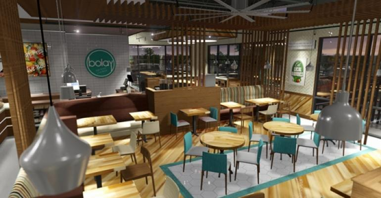 Interior rendering of new fastcasual eatery Bolay