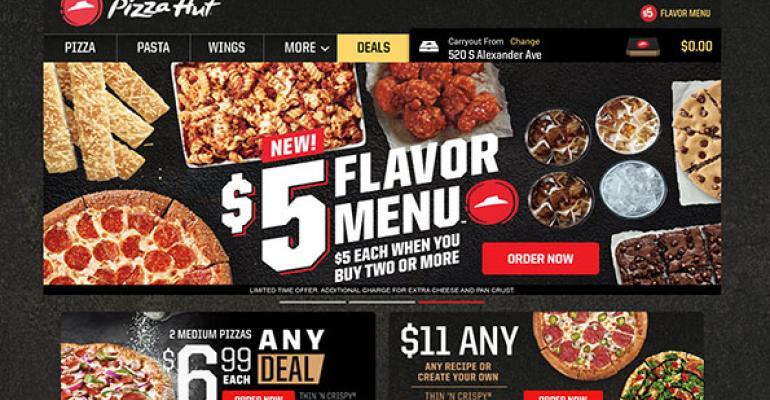 Pizza Hut 5 Flavor Menu