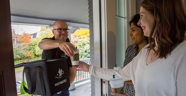 Starbucks launches delivery by Postmates in Seattle