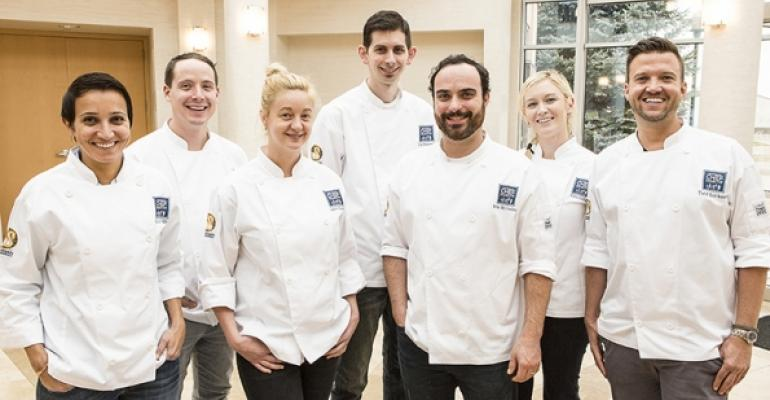 Schwanrsquos Chef Collective includes from left Paula DaSilva Dana Tough Jamie Malone Nick Wesemann Brian McCracken Katie Lee Collier and Todd Erickson