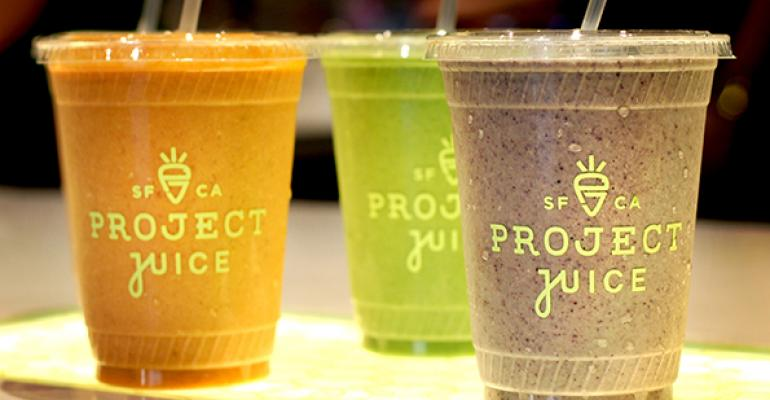 Project Juice smoothies
