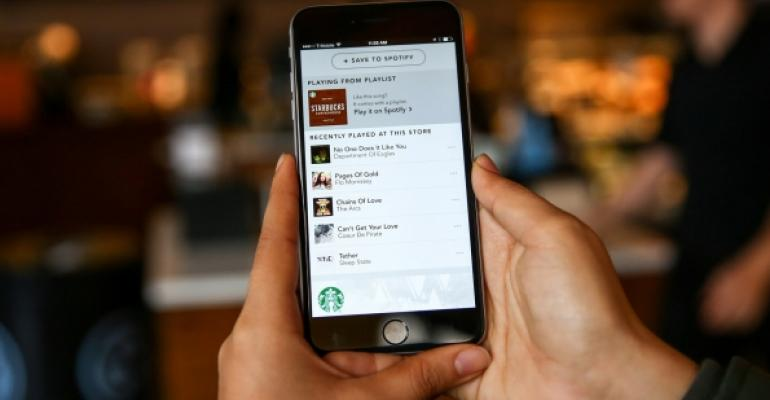 Starbucks Spotify app