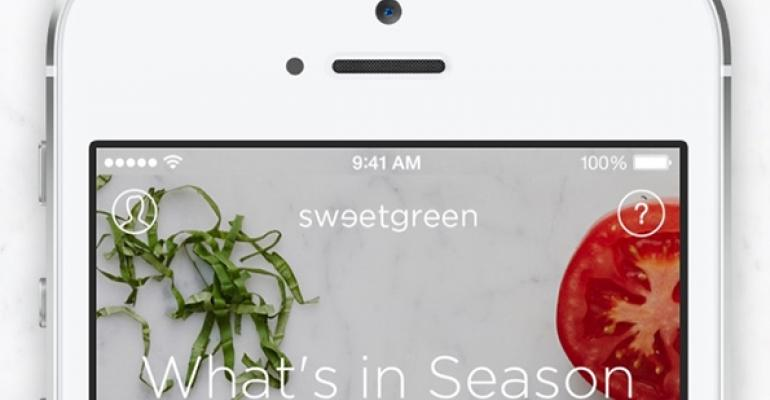 Sweetgreen expects to receive 50% of sales through app