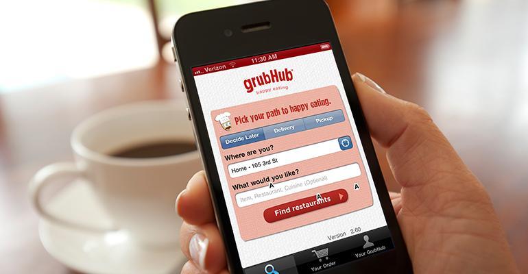 GrubHub mobile app