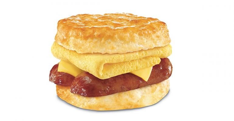 Hardees Smoked Sausage Biscuit
