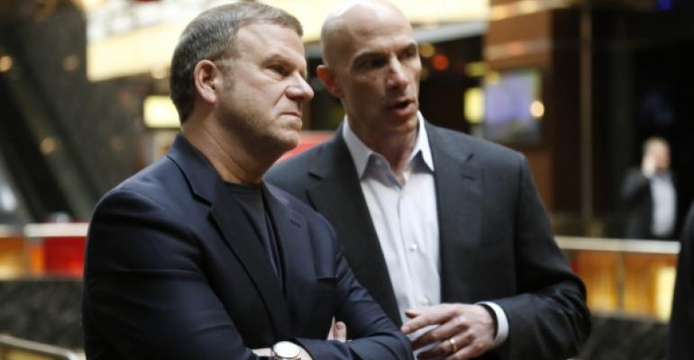 Tilman Fertitta left CEO of Landryrsquos Inc and Bob Meyer Landryrsquos vice president of purchasing Photos ldquoBillion Dollar Buyerrdquo