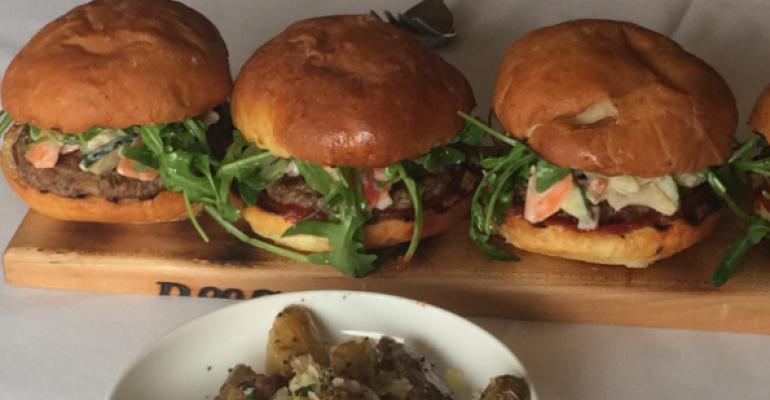 A new type of mushroom burger