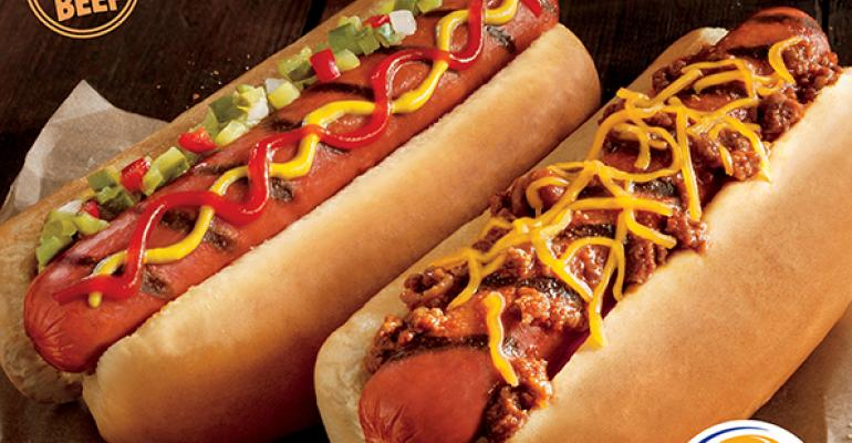 Hot dogs help Burger King sales