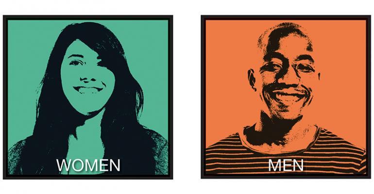 Gender gap icons