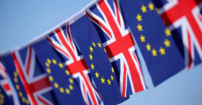 United Kingdom EU flags