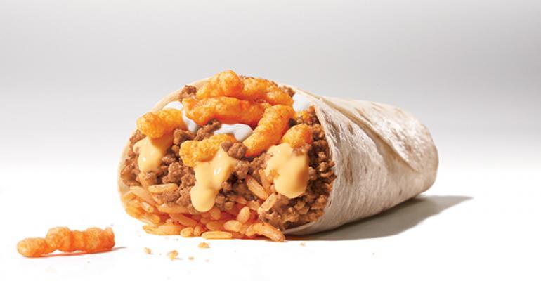 Taco Bell Cheetos Burrito