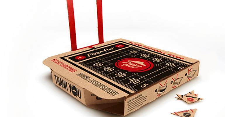 Pizza Hut football box