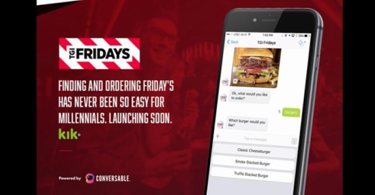 TGI Fridays deploys chatbot on Facebook Messenger