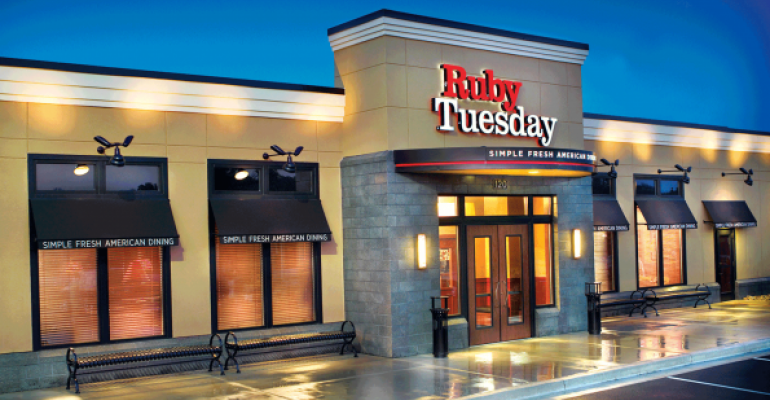 The exterior of a Ruby Tuesday.