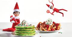 "IHOP's Elf on the Shelf's Oh What Funnel Cakes with ""elf sprinkles""."