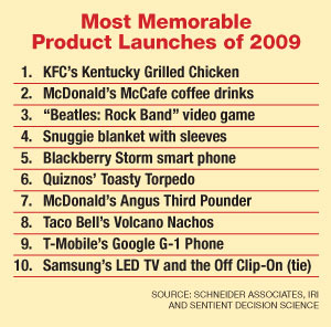 Fast food rules list of most memorable new products