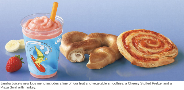 Jamba Juice kids menu
