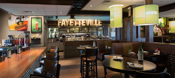 The Fayetteville, Tenn., 5,200-square-foot restaurant has about 180 seats, including the bar, and another 30 seats on the patio