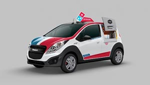 The Domino's DXP car