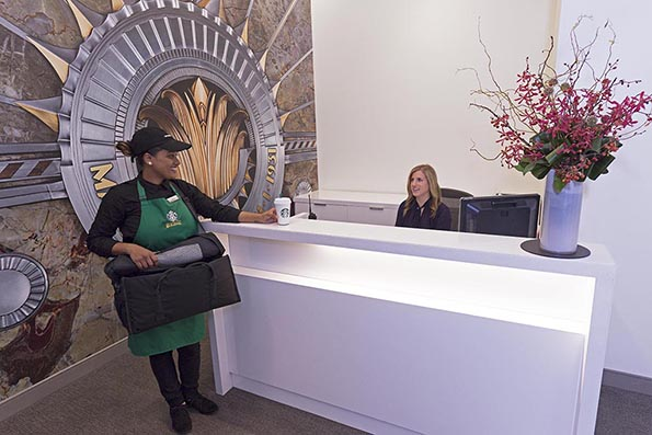 Starbucks office delivery