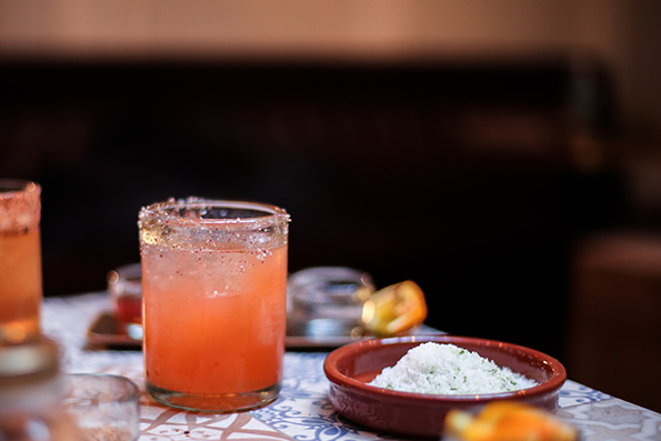 Rosa Mexicano strawberry margarita