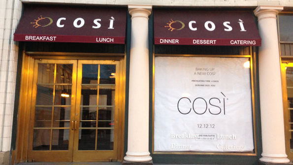 Cosi discount coupons