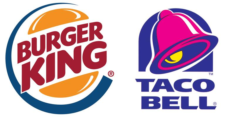 Burger King and Taco Bell logos