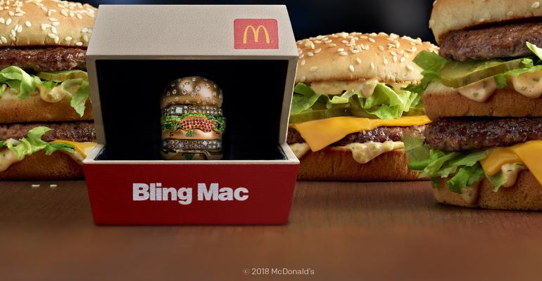 McDonald's is giving away an 18k gold 'Bling Mac' for Valentines' Day