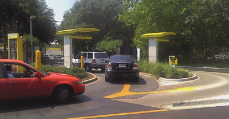 McDonalds double drivethru