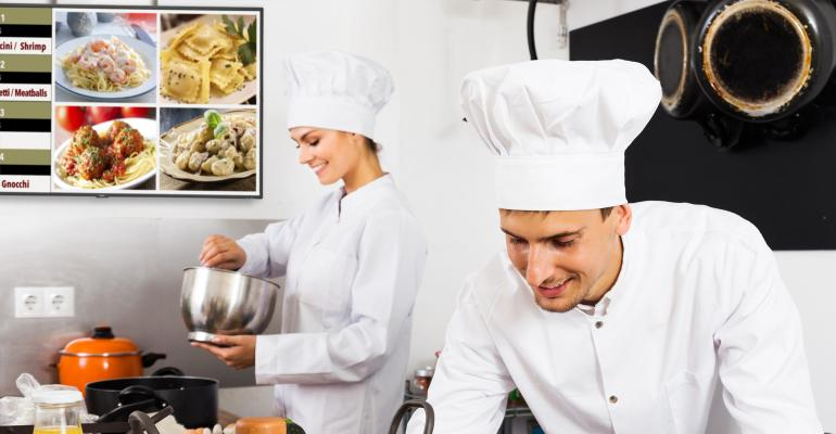 Screens help kitchen workers boost efficiency