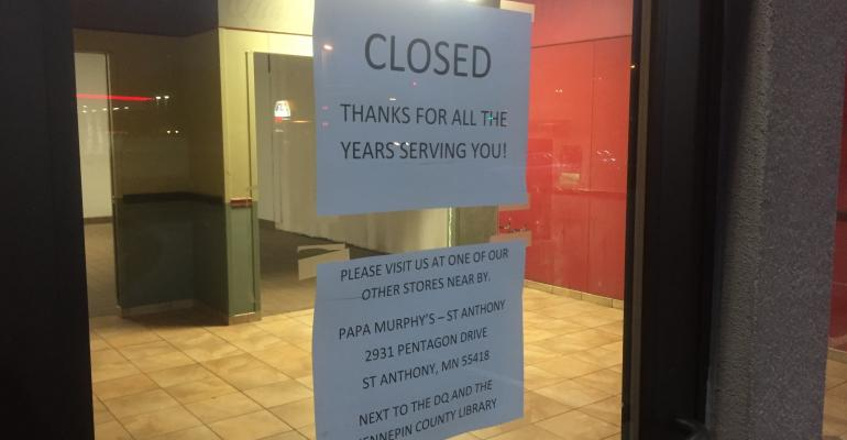 Papa Murphy's closed in New Brighton, Minnesota