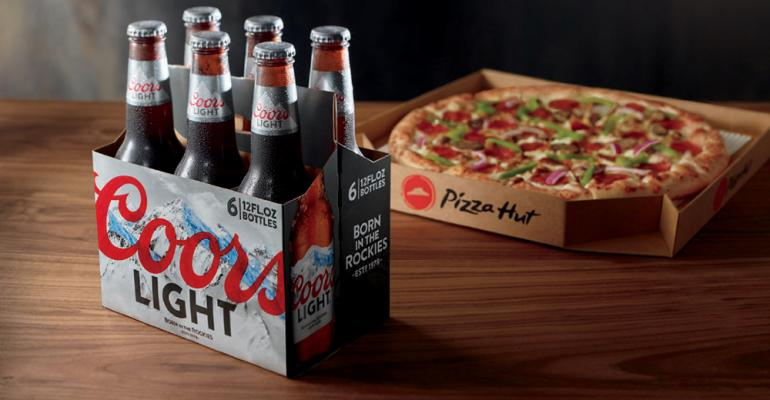 Pizza Hut tests delivery program of cold beer with hot pizzas