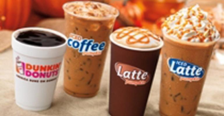 Dunkin coffees