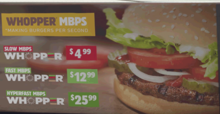 OK, imagine net neutrality is Burger King's flame grilled Whopper