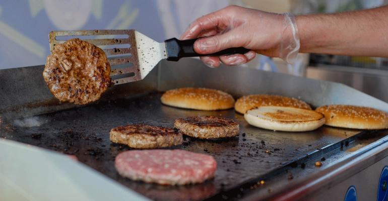 cook burgers