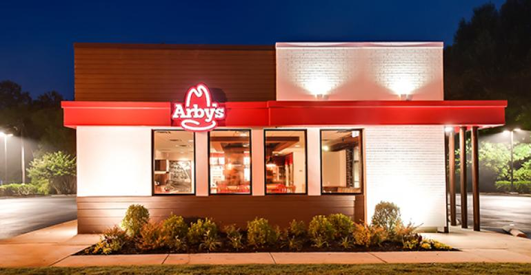 Inside a remodeled Arby's restaurant