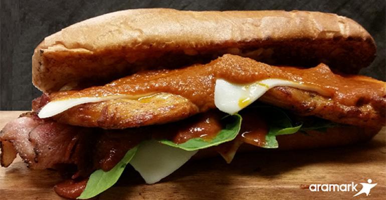Aramark taps local tastes with stadium sandwiches