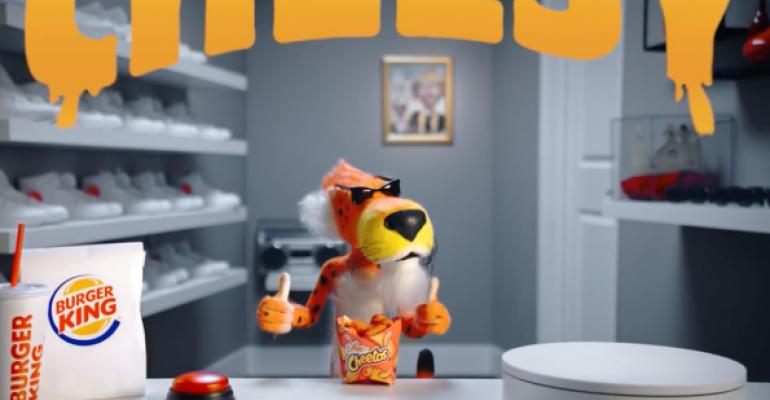 Cheetos mascot unboxes Burger King's new Mac n' Cheetos