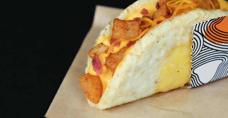 Taco Bell's Insane Taco With a Fried Egg Shell Is Launching Nationwide