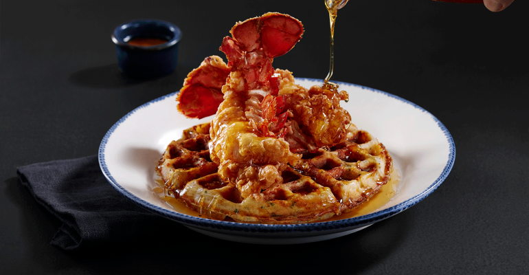 Red Lobster Serves Seafood Spin on Chicken and Waffles