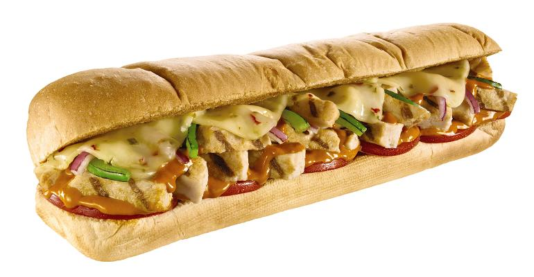 Subway chicken sandwich