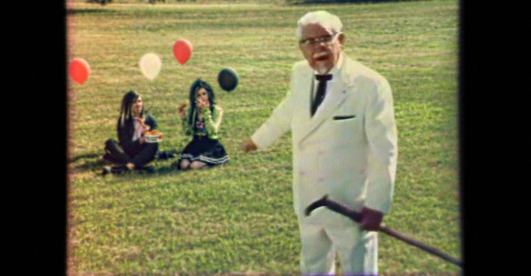 KFC ad original colonel new teens