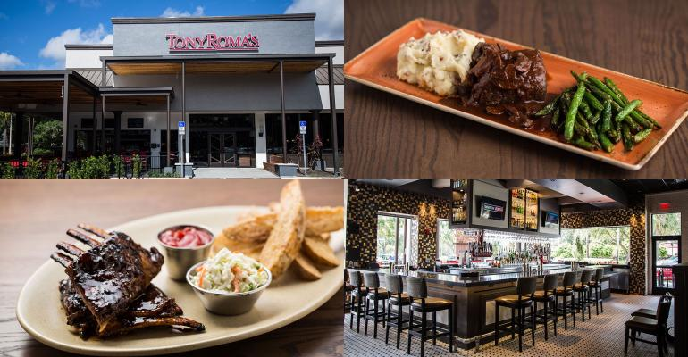 Tony Roma's revamps menu and design