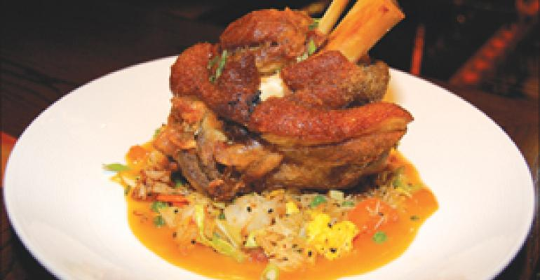 DISH OF THE WEEK: Crackling pork shank at Hawaiian Tropic Zone, New York City
