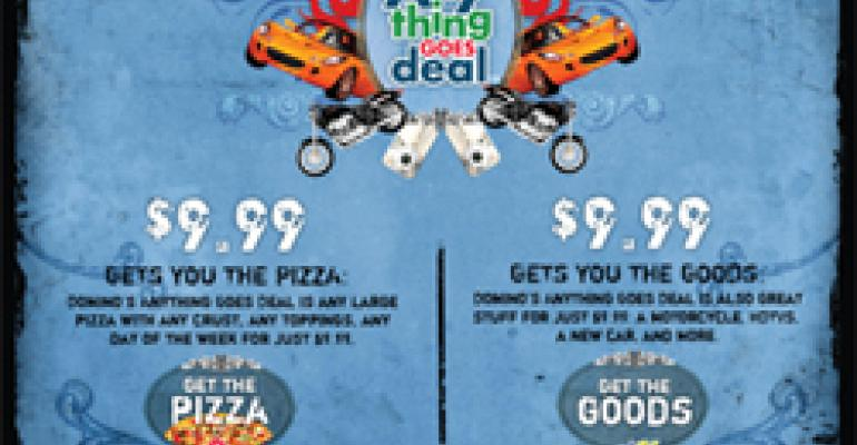 Domino's, Bob Evans sold on using eBay promotions