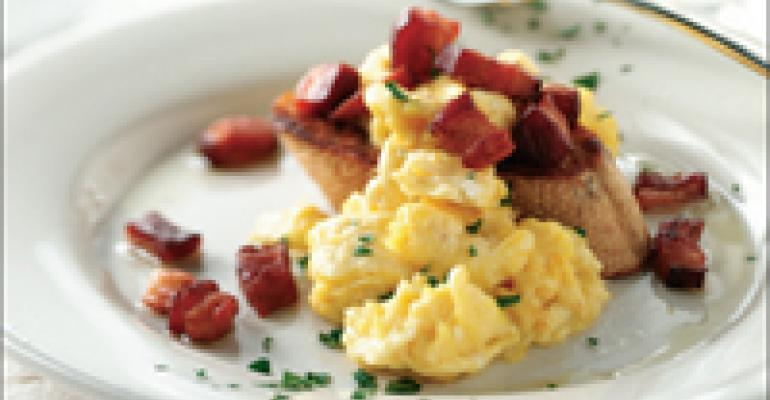 DISH OF THE WEEK: Truffled eggs and bacon